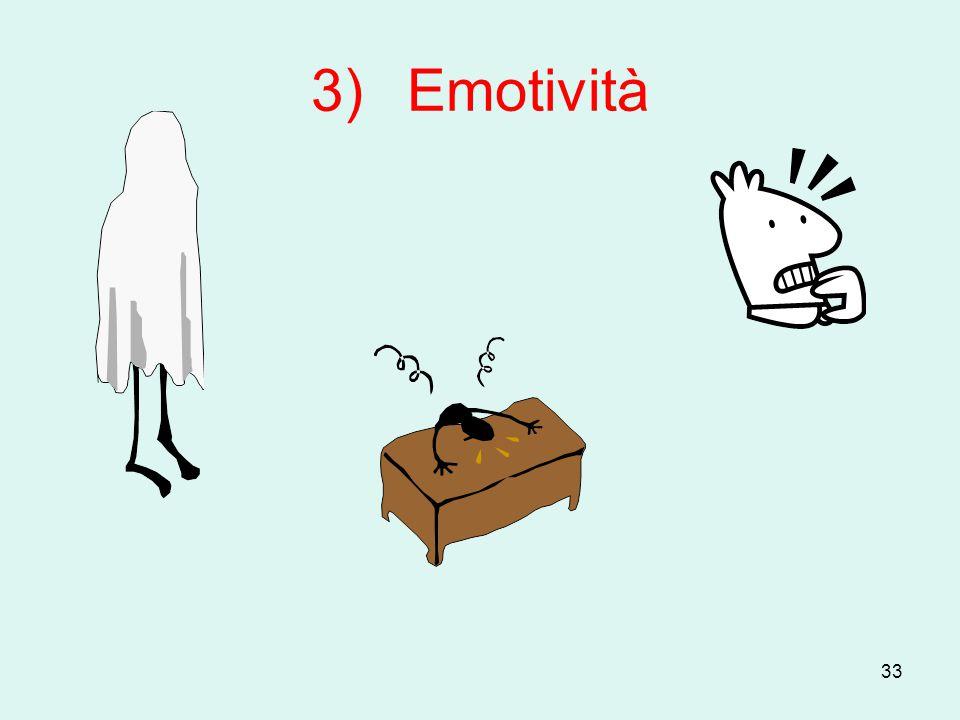 3) Emotività
