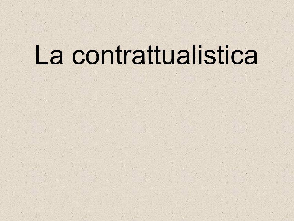 La contrattualistica