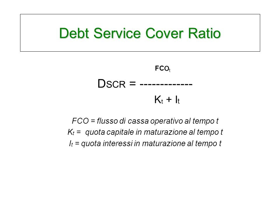 Debt Service Cover Ratio