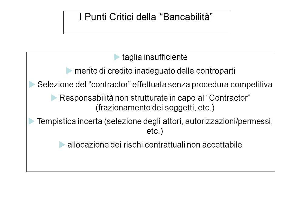 I Punti Critici della Bancabilità