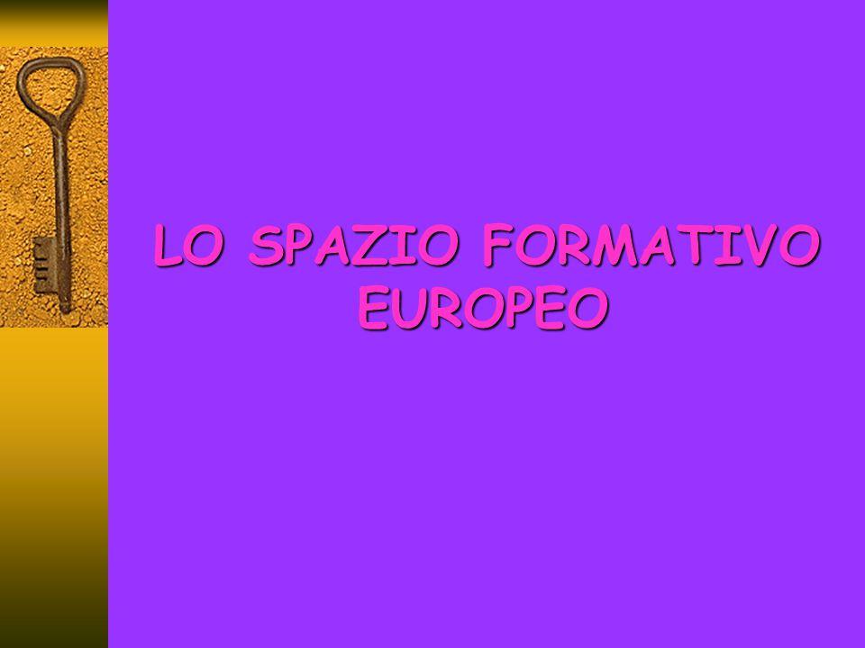 LO SPAZIO FORMATIVO EUROPEO