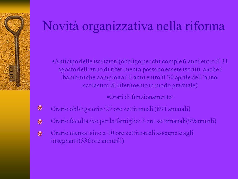 Novità organizzativa nella riforma