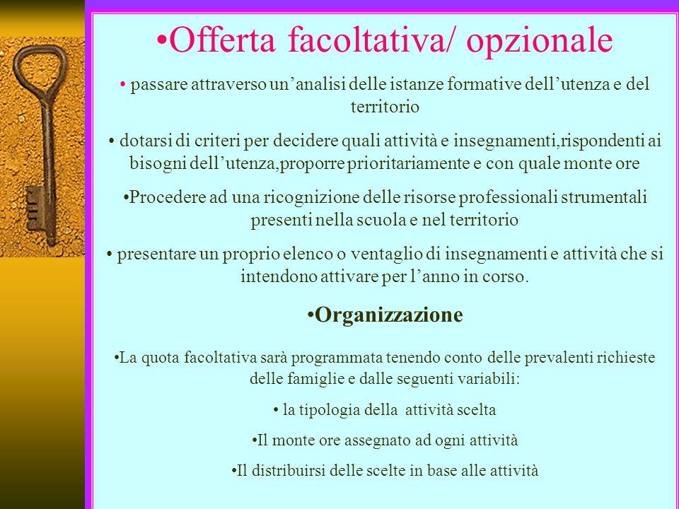 Offerta facoltativa/ opzionale