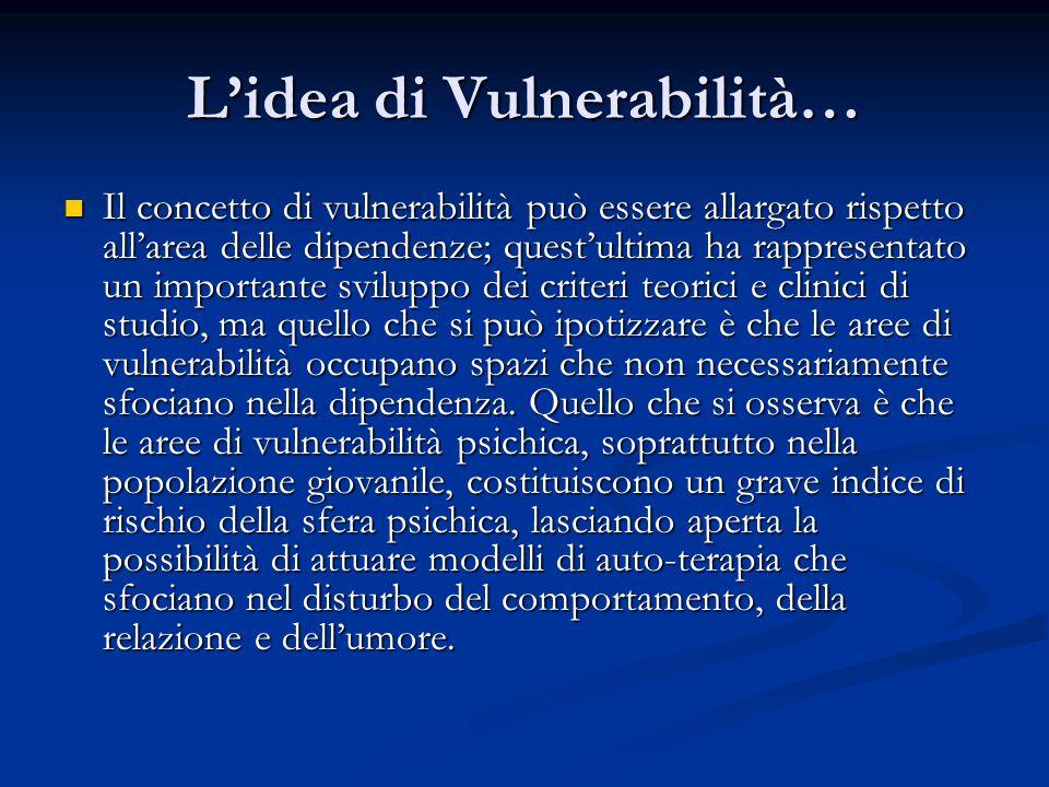 L'idea di Vulnerabilità…