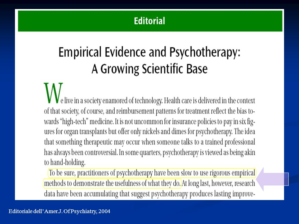 Editoriale dell'Amer.J. Of Psychiatry, 2004
