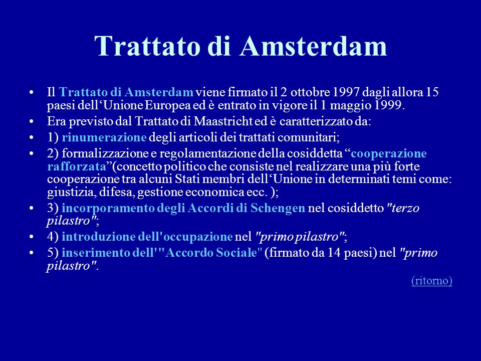 Trattato di Amsterdam