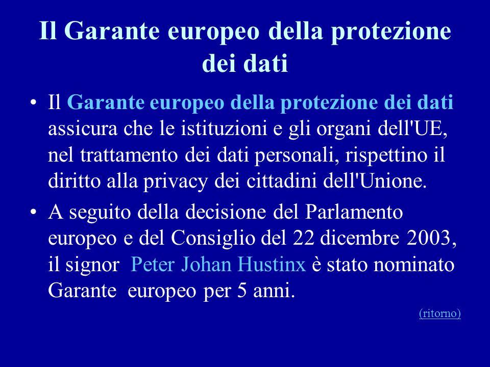 Il Garante europeo della protezione dei dati
