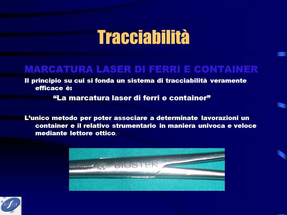 Tracciabilità MARCATURA LASER DI FERRI E CONTAINER