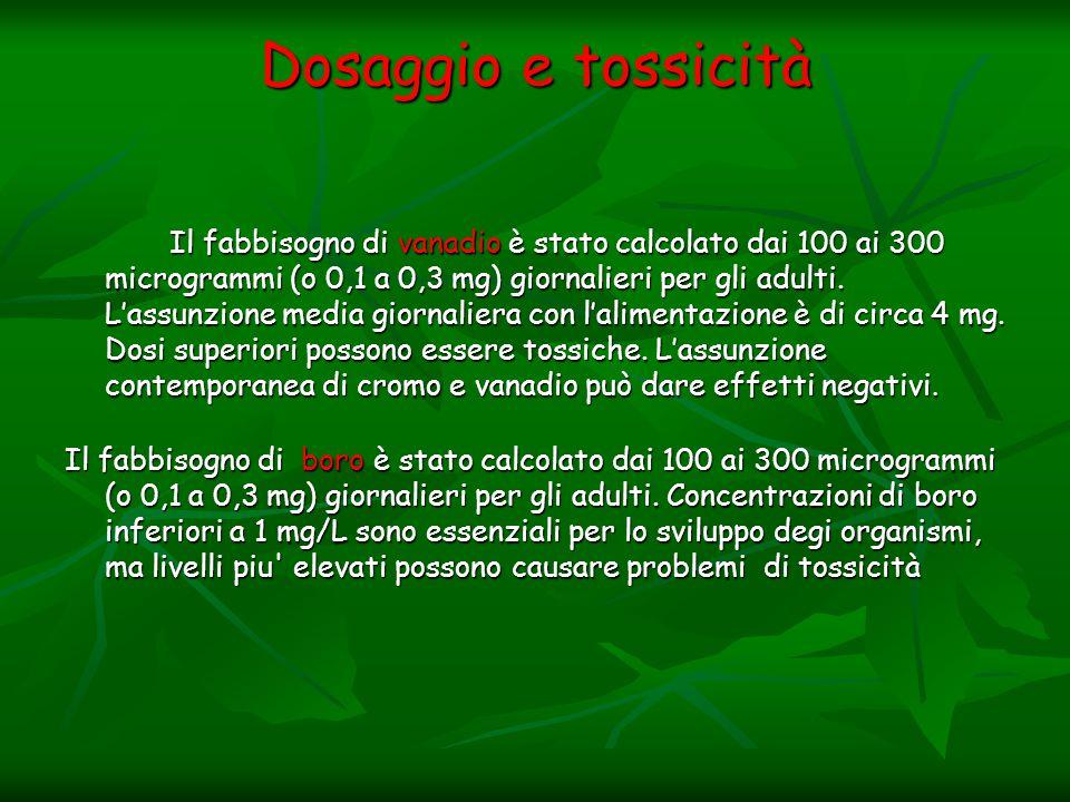 Dosaggio e tossicità