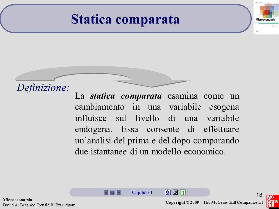 Statica comparata Definizione: