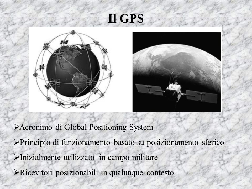Il GPS Acronimo di Global Positioning System