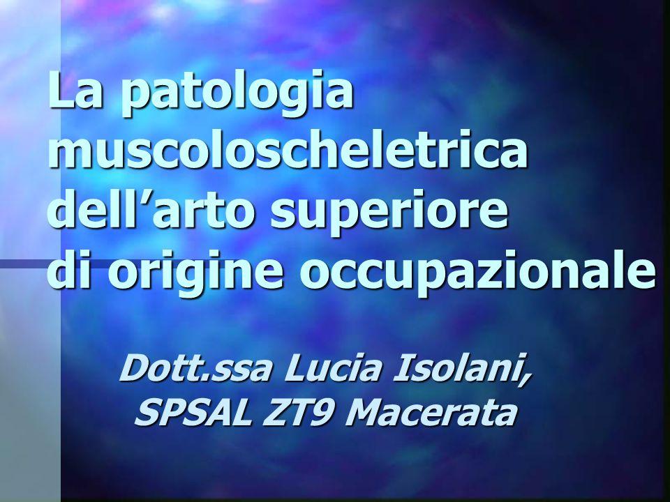 Dott.ssa Lucia Isolani, SPSAL ZT9 Macerata