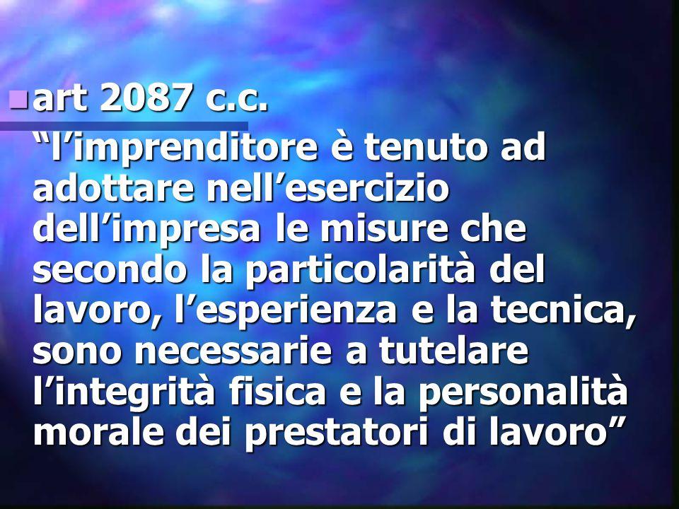 art 2087 c.c.