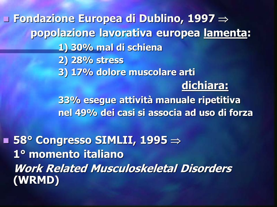 Fondazione Europea di Dublino, 1997 