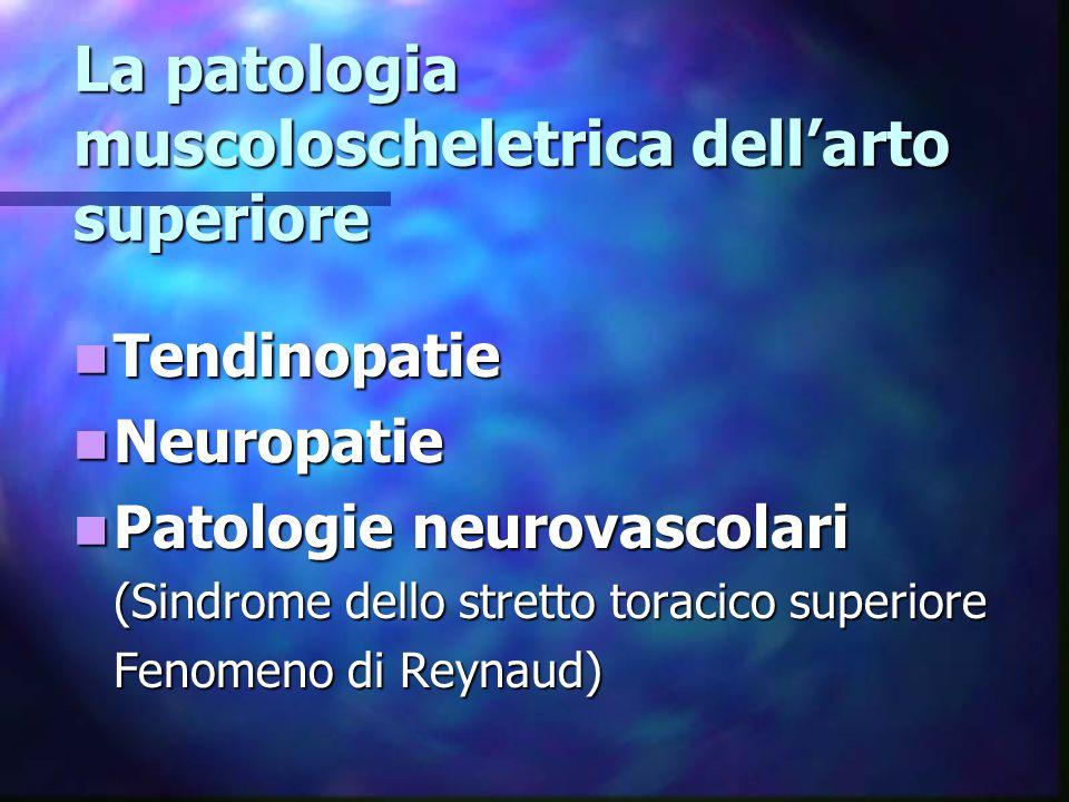 La patologia muscoloscheletrica dell'arto superiore