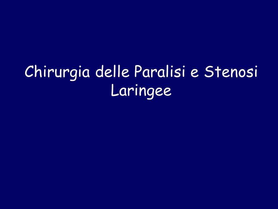 Chirurgia delle Paralisi e Stenosi Laringee