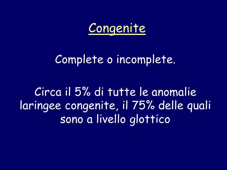 Congenite Complete o incomplete.