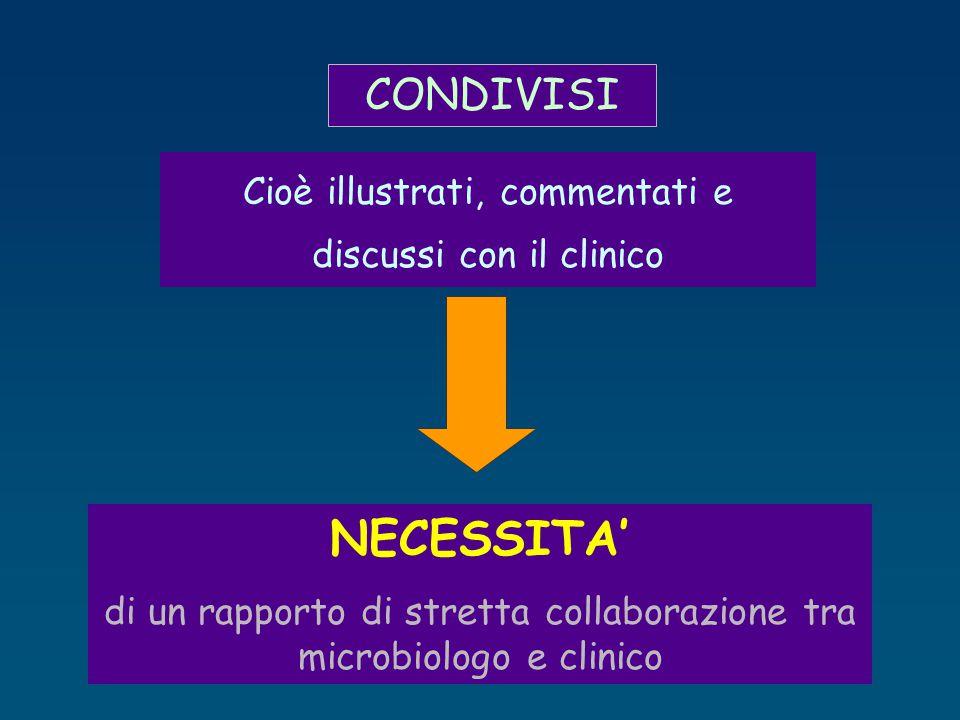 CONDIVISI Cioè illustrati, commentati e discussi con il clinico.