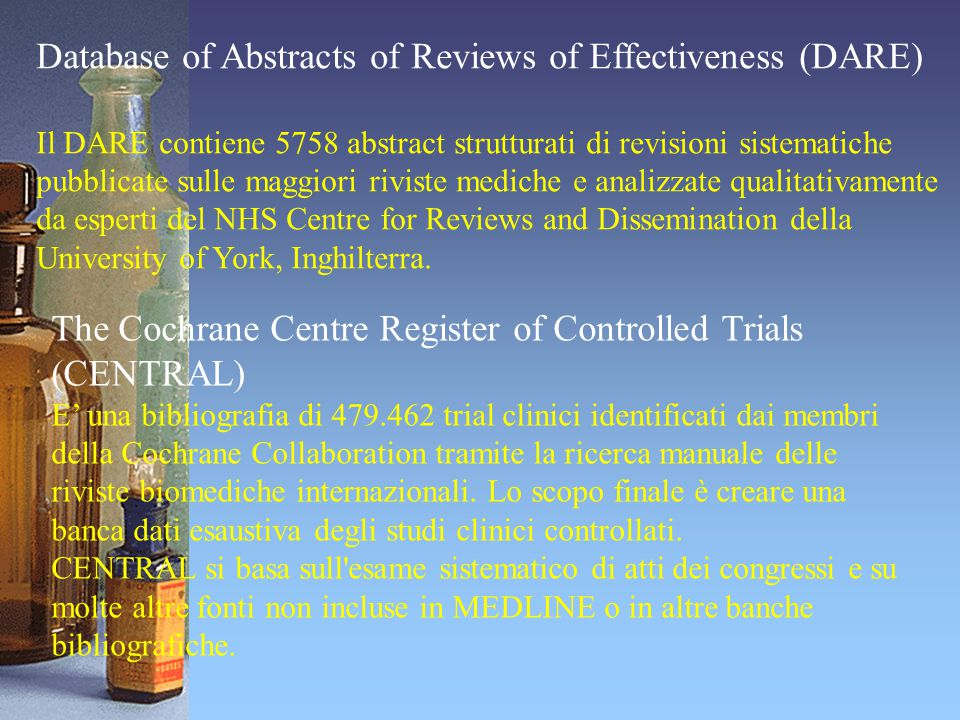 Database of Abstracts of Reviews of Effectiveness (DARE)
