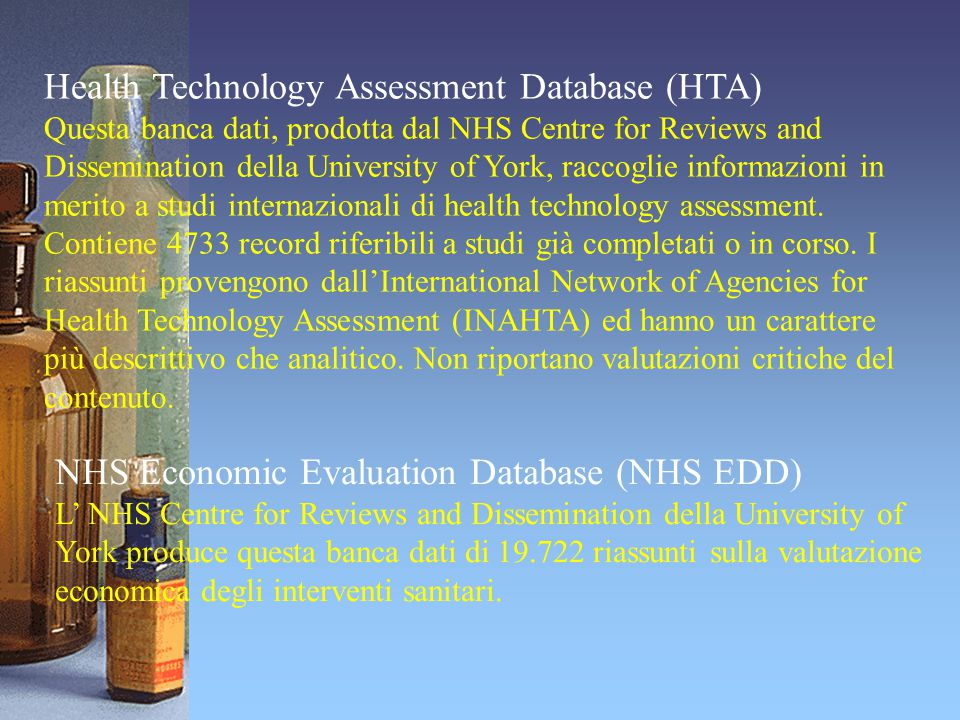 Health Technology Assessment Database (HTA)