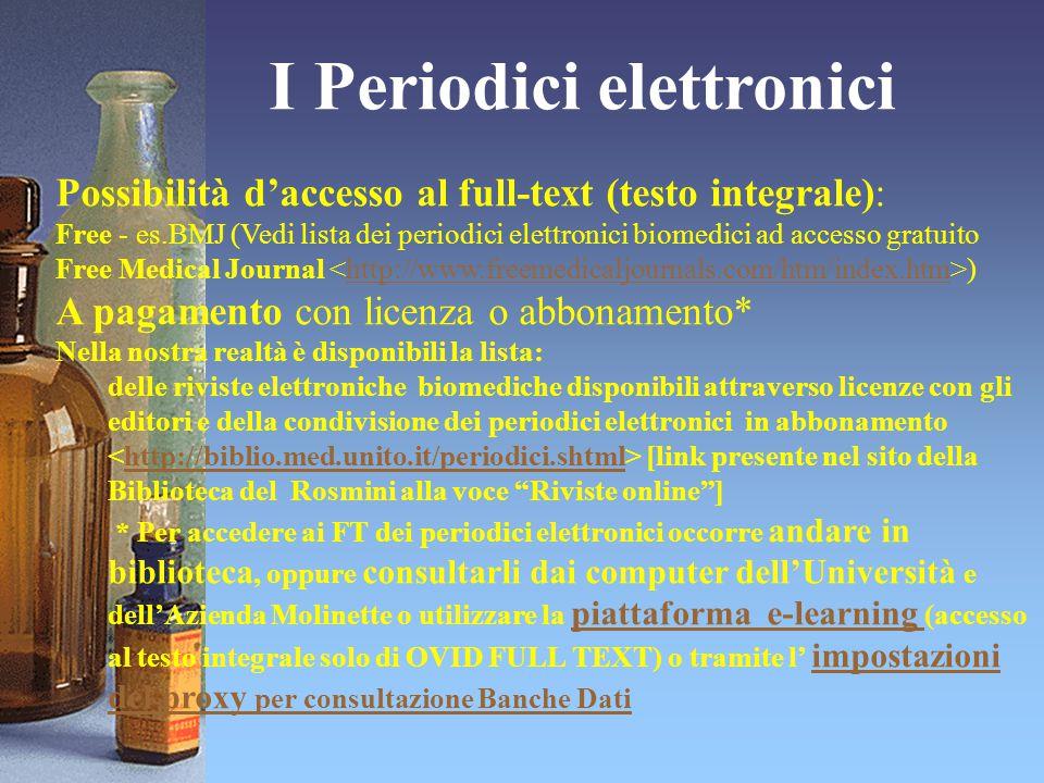 I Periodici elettronici