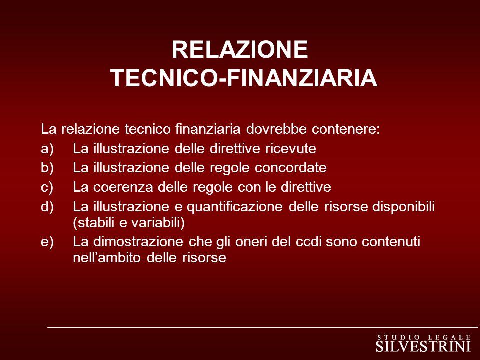 RELAZIONE TECNICO-FINANZIARIA