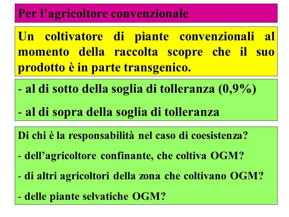 Per l'agricoltore convenzionale