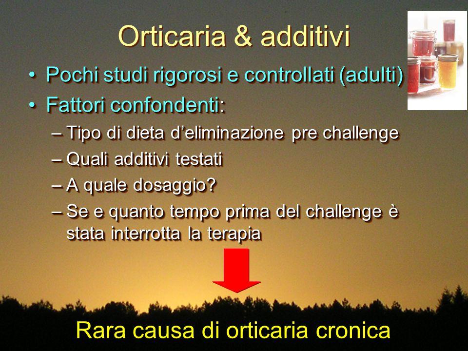 Rara causa di orticaria cronica
