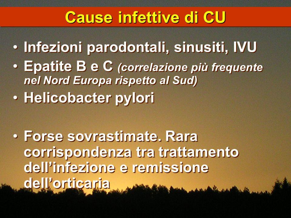 Cause infettive di CU Infezioni parodontali, sinusiti, IVU