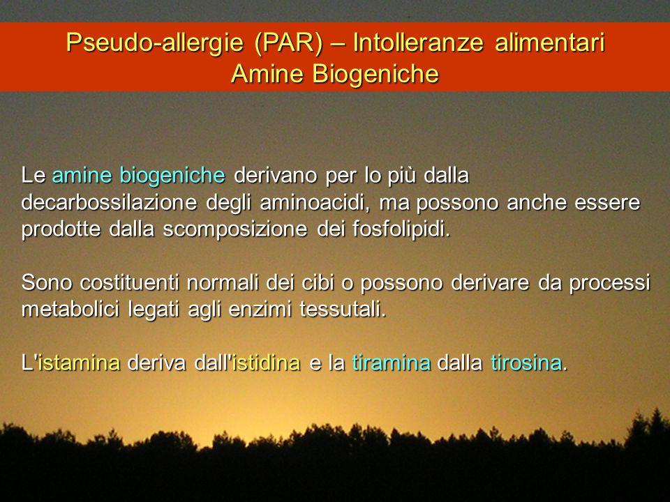 Pseudo-allergie (PAR) – Intolleranze alimentari