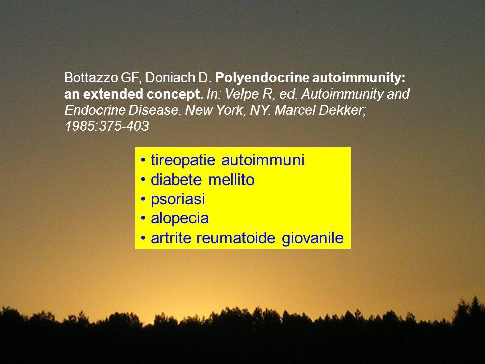 tireopatie autoimmuni diabete mellito psoriasi alopecia