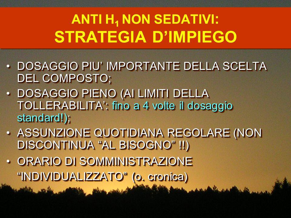 ANTI H1 NON SEDATIVI: STRATEGIA D'IMPIEGO