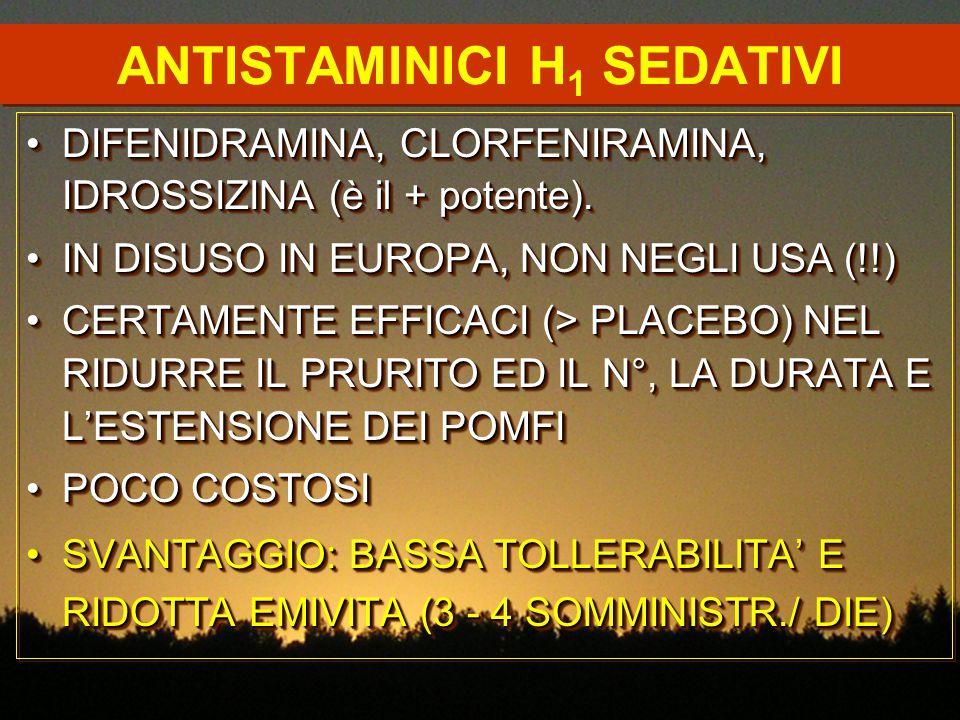 ANTISTAMINICI H1 SEDATIVI