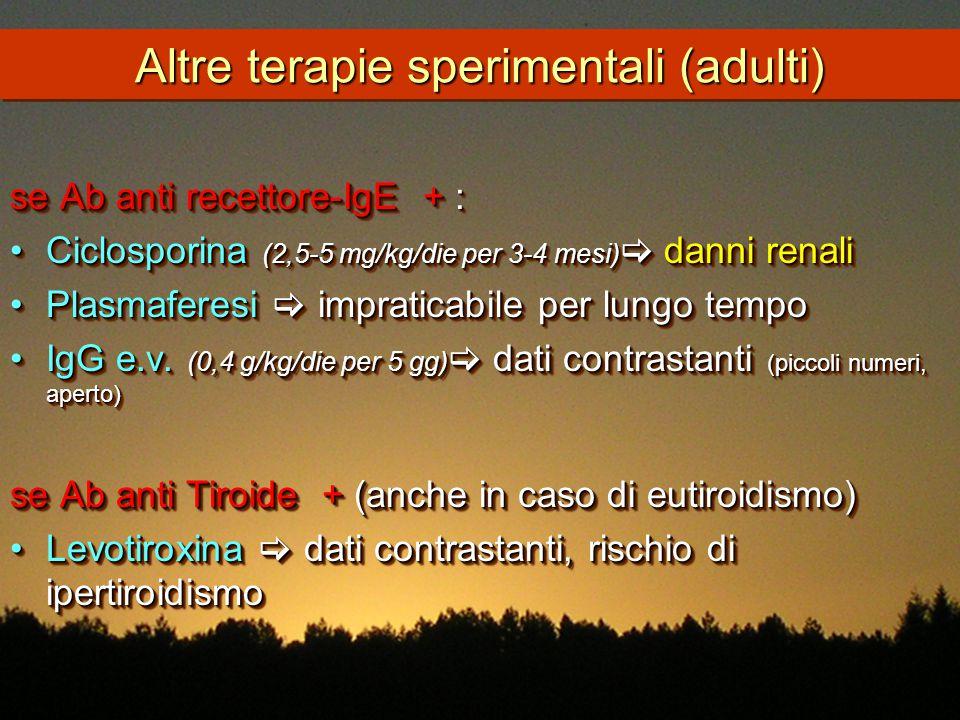 Altre terapie sperimentali (adulti)