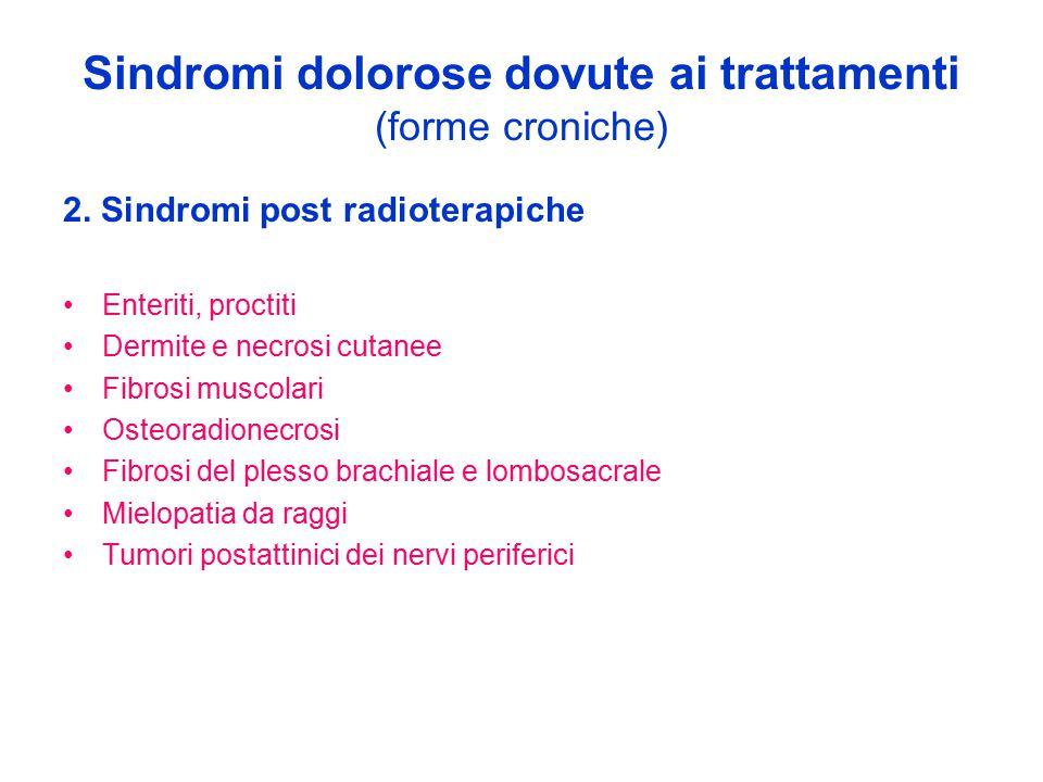 Sindromi dolorose dovute ai trattamenti (forme croniche)