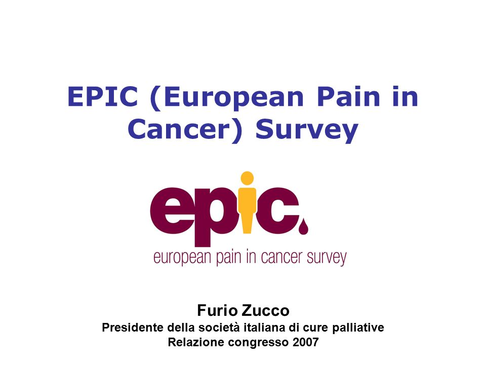 EPIC (European Pain in Cancer) Survey