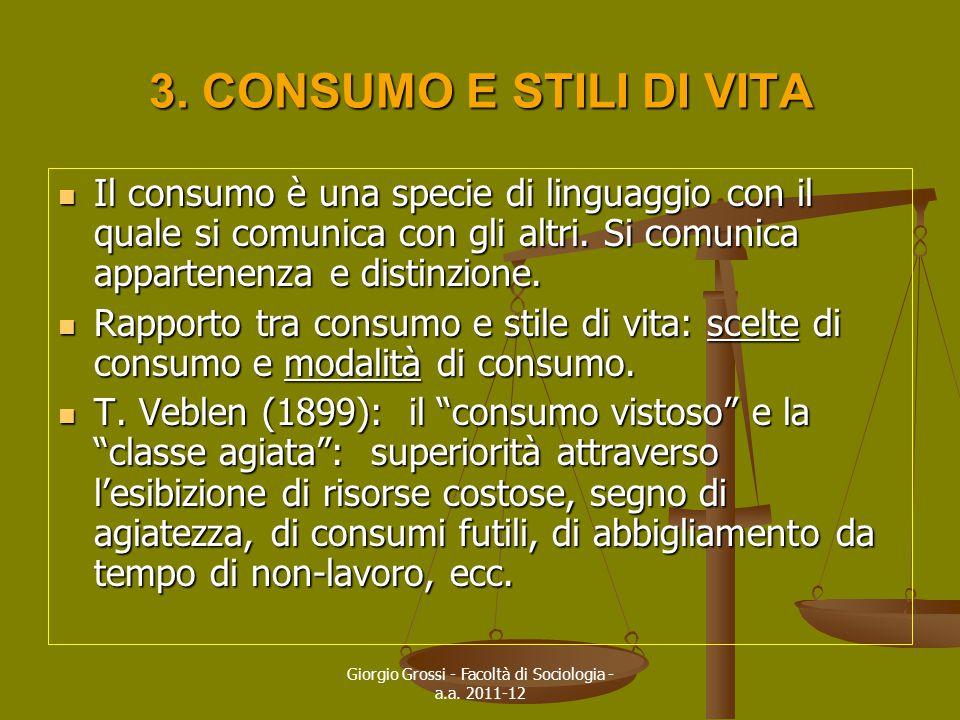 Giorgio Grossi - Facoltà di Sociologia - a.a. 2011-12