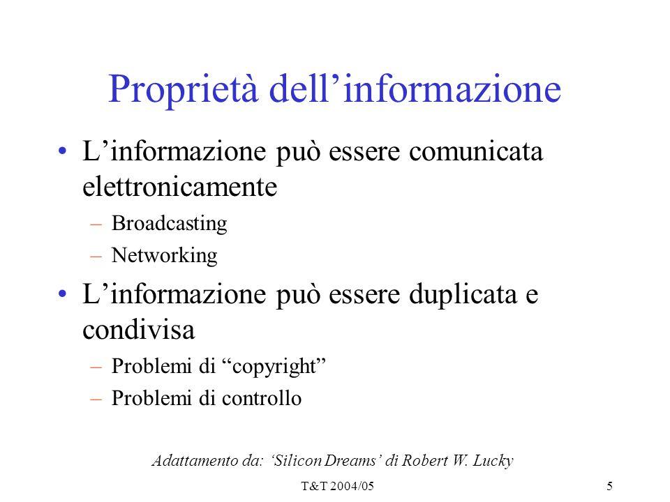 Proprietà dell'informazione