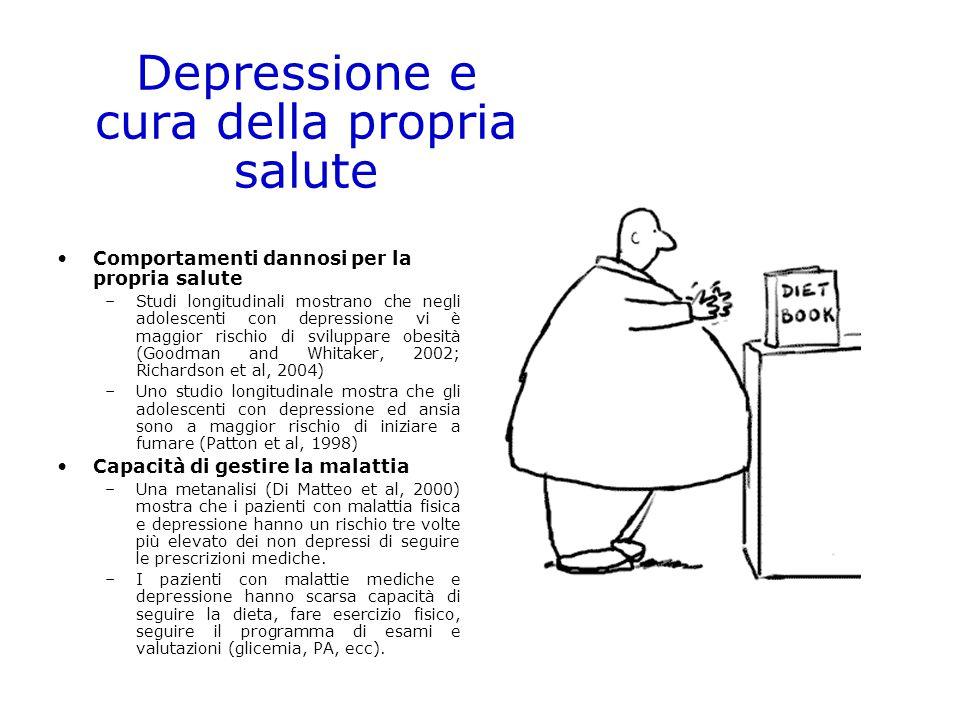 Depressione e cura della propria salute