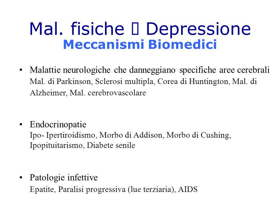 Mal. fisiche à Depressione Meccanismi Biomedici