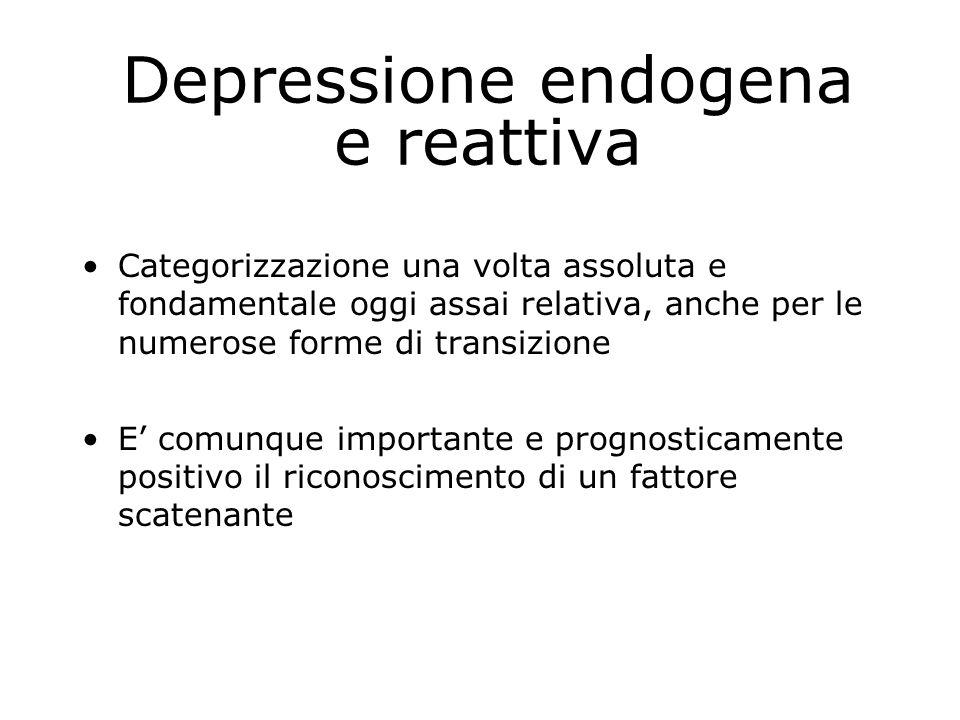 Depressione endogena e reattiva