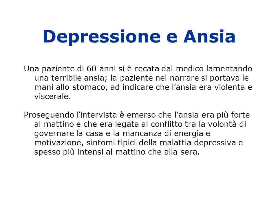 Depressione e Ansia