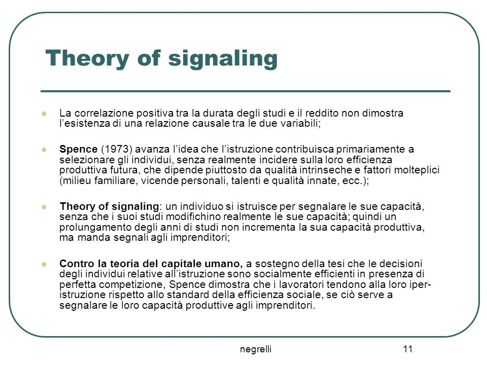 Theory of signaling