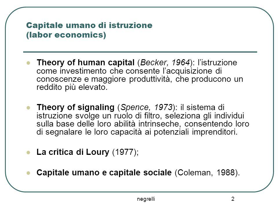 Capitale umano di istruzione (labor economics)