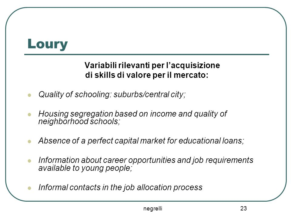di skills di valore per il mercato: