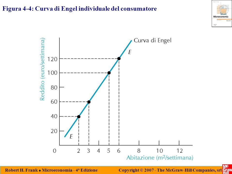 Figura 4-4: Curva di Engel individuale del consumatore