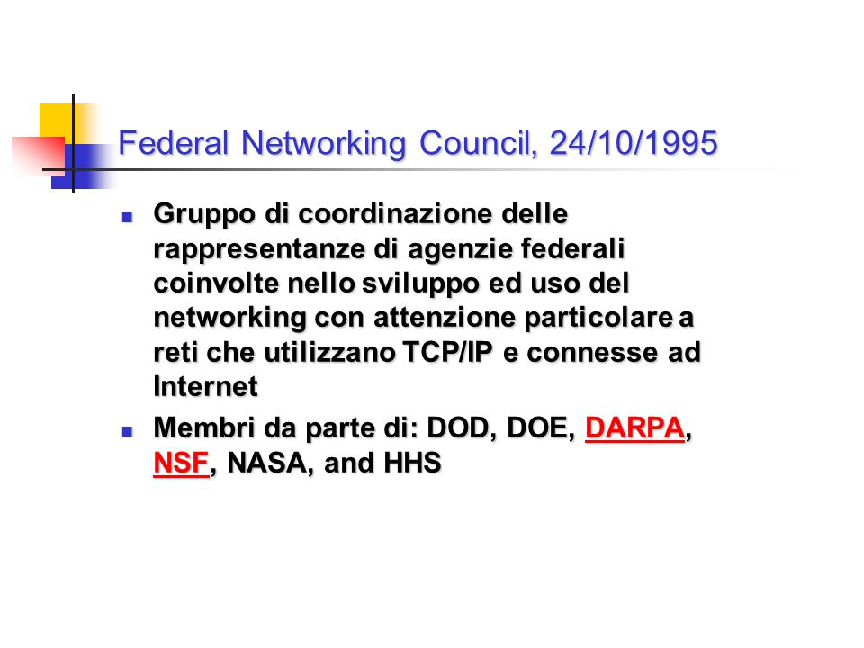 Federal Networking Council, 24/10/1995