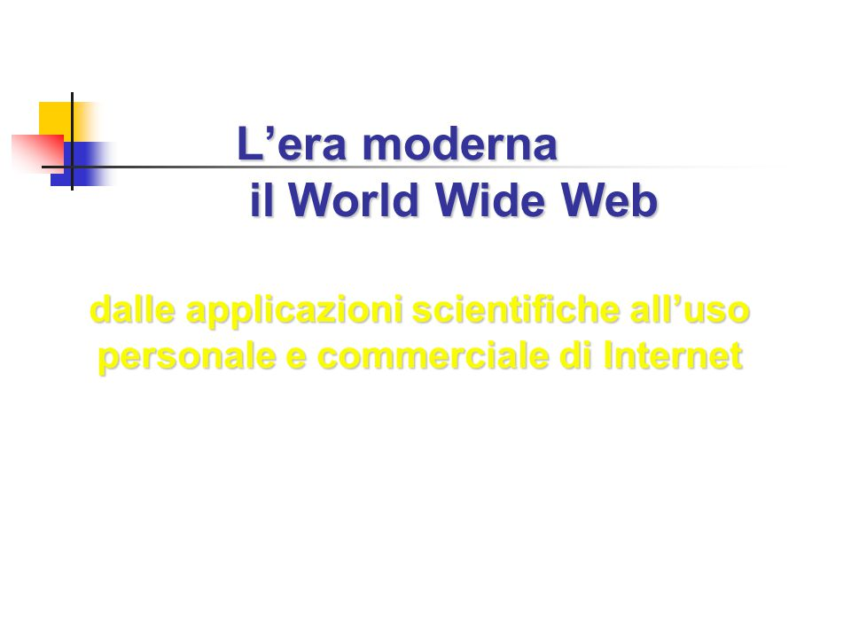 L'era moderna il World Wide Web
