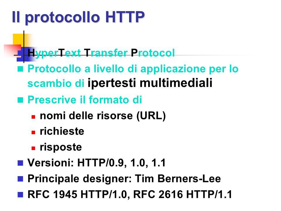 Il protocollo HTTP HyperText Transfer Protocol