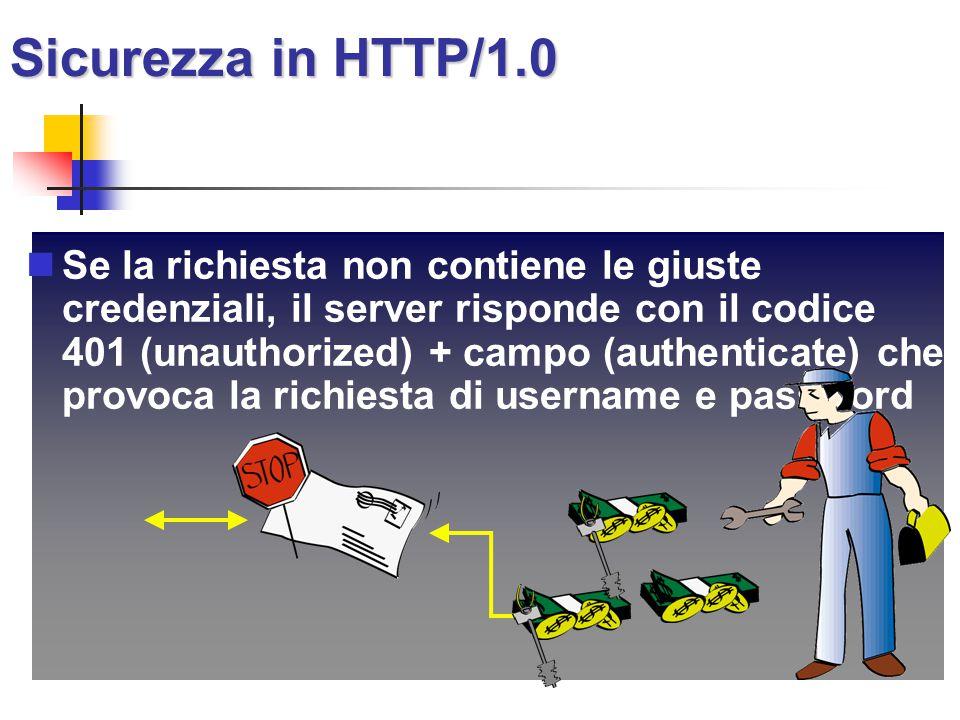 Sicurezza in HTTP/1.0